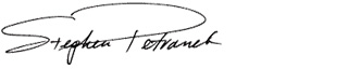 Stephen Petranek Signature